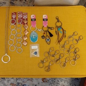 Crafting Supplies..Keychains, Keyrings
